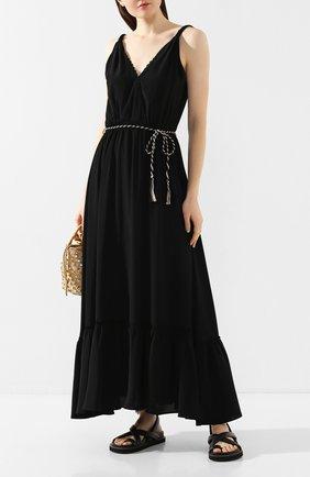 Женское платье с поясом FORTE_FORTE черного цвета, арт. 7070 | Фото 2