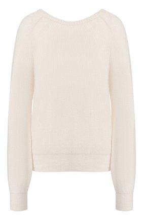 Женская свитер из смеси шерсти и кашемира FORTE_FORTE белого цвета, арт. 7106 | Фото 1