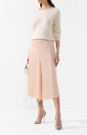 Женская свитер из смеси шерсти и кашемира FORTE_FORTE белого цвета, арт. 7106 | Фото 2