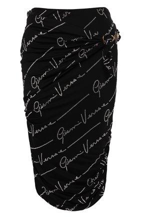 Женская юбка из вискозы VERSACE черного цвета, арт. A85690/A227759 | Фото 1