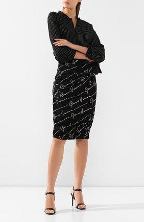 Женская юбка из вискозы VERSACE черного цвета, арт. A85690/A227759 | Фото 2