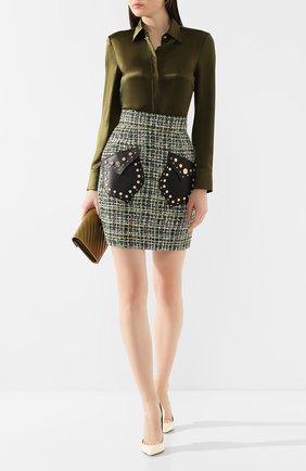 Женская юбка VERSACE зеленого цвета, арт. A85660/A232509   Фото 2