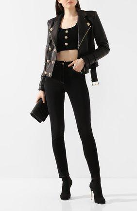 Женские джинсы VERSACE черного цвета, арт. A85438/A231044 | Фото 2