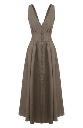 Женское льняное платье CULT GAIA зеленого цвета, арт. 50060L14 SSP | Фото 1