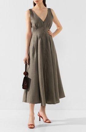 Женское льняное платье CULT GAIA зеленого цвета, арт. 50060L14 SSP | Фото 2