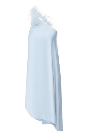 Женское платье из вискозы CULT GAIA светло-голубого цвета, арт. 50111Y03 SKY   Фото 1 (Материал подклада: Вискоза; Длина Ж (юбки, платья, шорты): Миди; Рукава: Без рукавов, С открытыми плечами, Короткие; Случай: Повседневный; Статус проверки: Проверена категория; Материал внешний: Вискоза)