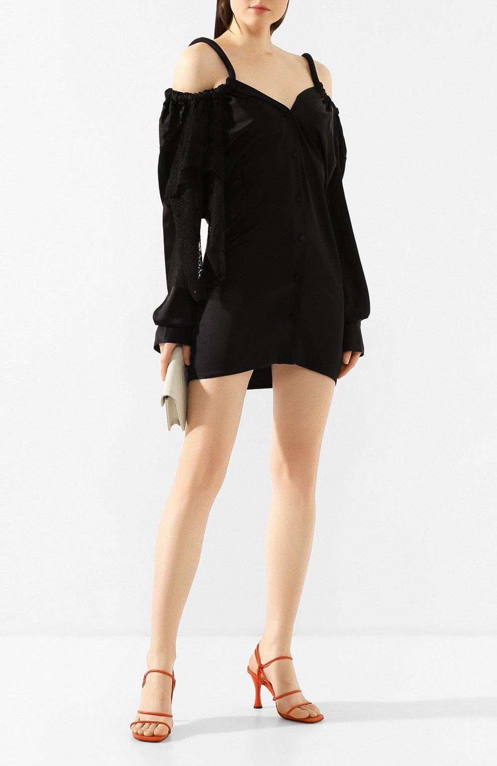 Женское платье ACT N1 черного цвета, арт. RD2002   Фото 2 (Рукава: Длинные; Случай: Повседневный; Материал внешний: Синтетический материал; Длина Ж (юбки, платья, шорты): До колена; Статус проверки: Проверена категория)