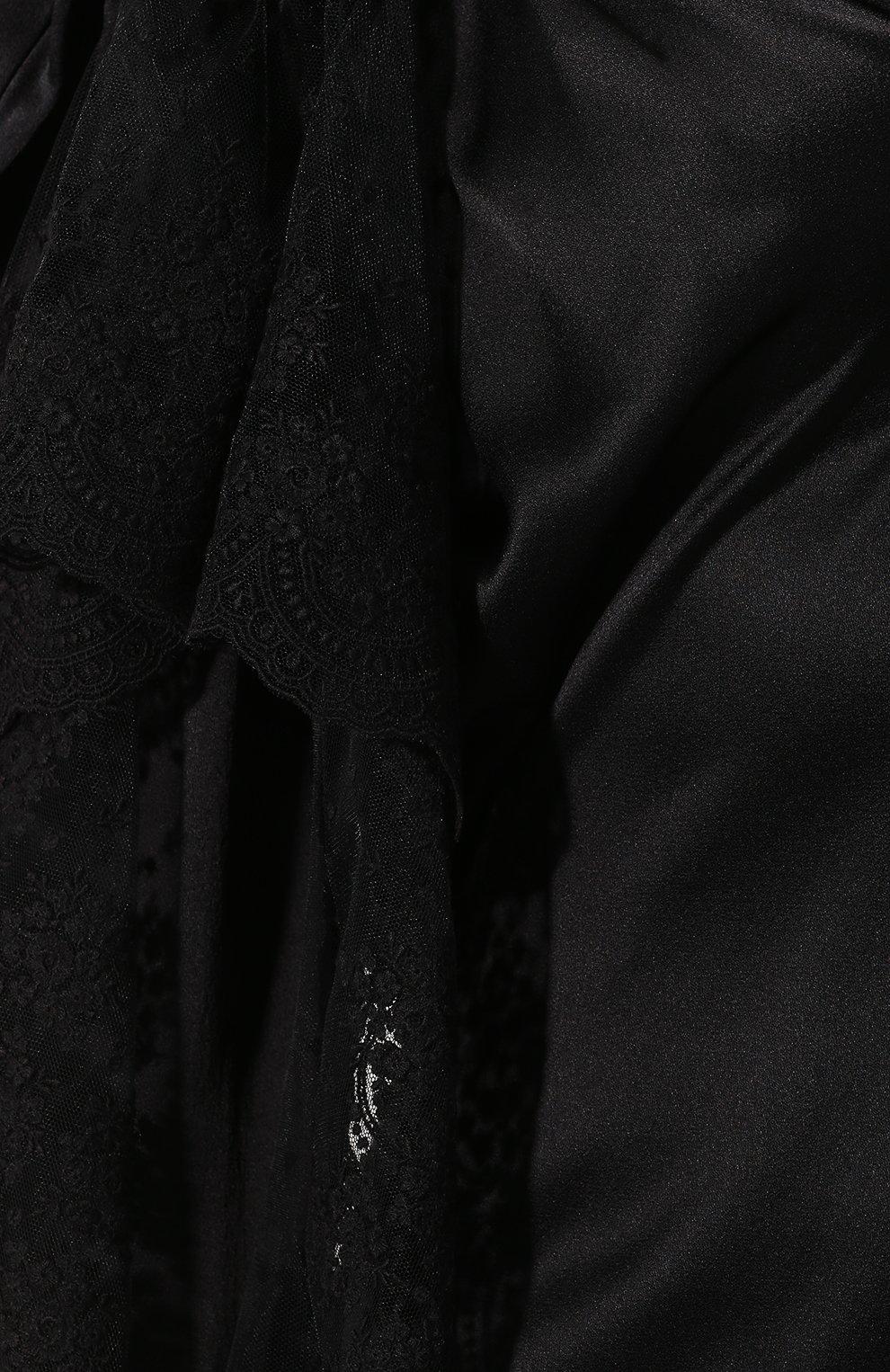 Женское платье ACT N1 черного цвета, арт. RD2002   Фото 5 (Рукава: Длинные; Случай: Повседневный; Материал внешний: Синтетический материал; Длина Ж (юбки, платья, шорты): До колена; Статус проверки: Проверена категория)