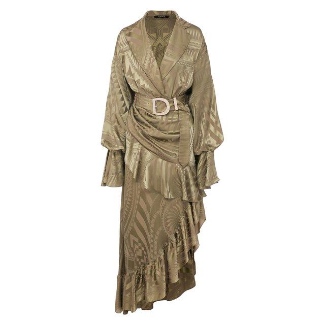 Платье с поясом Balmain — Платье с поясом