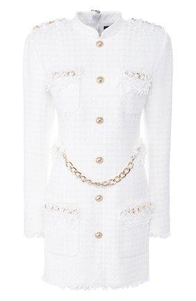 Женское платье BALMAIN белого цвета, арт. TF16270/C229   Фото 1