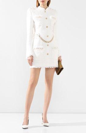 Женское платье BALMAIN белого цвета, арт. TF16270/C229   Фото 2
