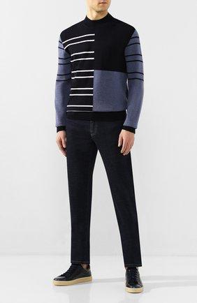 Мужской шерстяной свитер BOSS темно-синего цвета, арт. 50423343 | Фото 2
