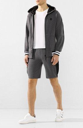 Мужские хлопковые шорты PHILIPP PLEIN серого цвета, арт. S20C MJT1551 PJO002N | Фото 2