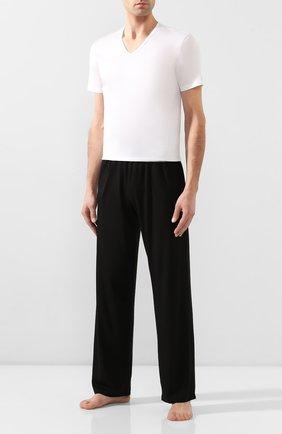 Мужские хлопковая футболка ERMENEGILDO ZEGNA белого цвета, арт. N2M200030/N2M800030 | Фото 2