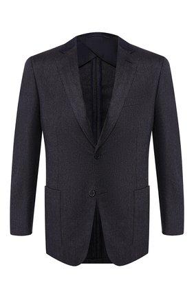 Мужской пиджак из смеси шерсти и кашемира BRIONI темно-синего цвета, арт. RGK10L/0840S/TALETE | Фото 1