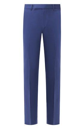 Мужской брюки из смеси хлопка и кашемира ERMENEGILDO ZEGNA синего цвета, арт. 766F15/77TB12 | Фото 1