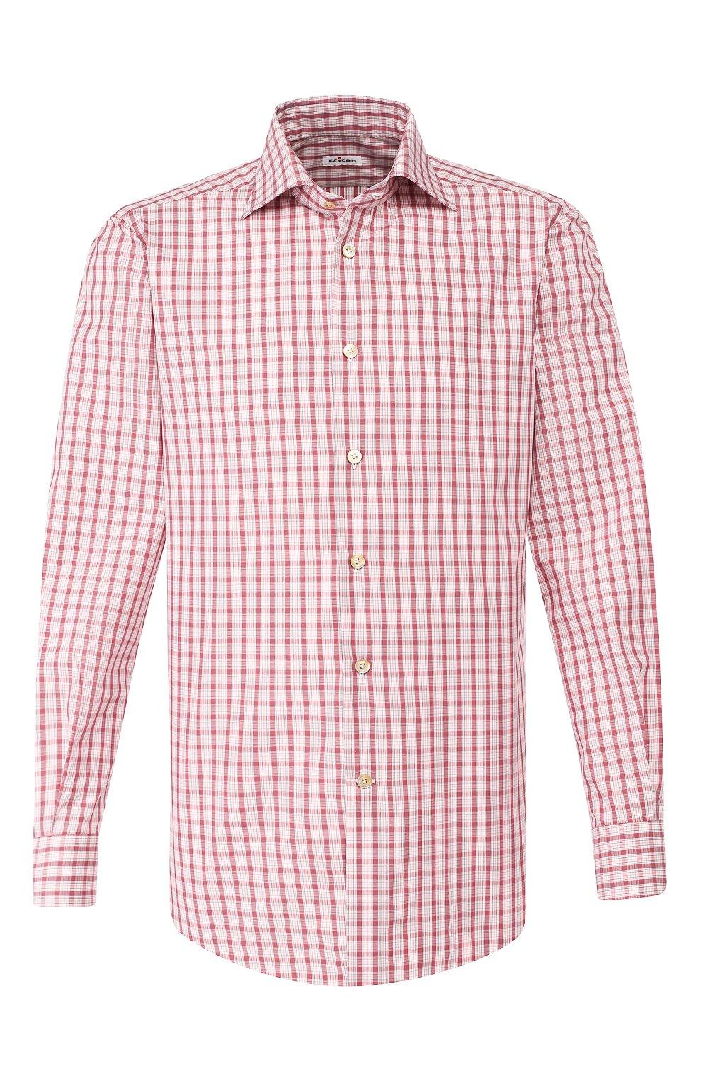 Мужская хлопковая сорочка KITON бордового цвета, арт. UCIH0730914 | Фото 1