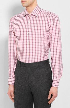 Мужская хлопковая сорочка KITON бордового цвета, арт. UCIH0730914 | Фото 3