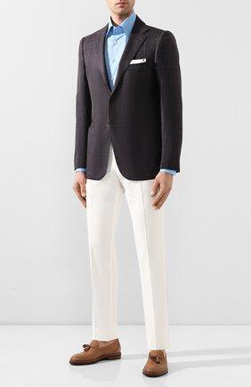 Мужской пиджак из смеси шерсти и шелка KITON коричневого цвета, арт. UG81K06S63 | Фото 2
