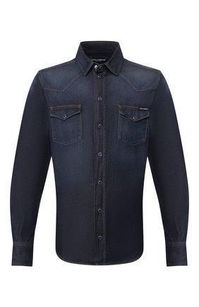 Мужская джинсовая рубашка DOLCE & GABBANA синего цвета, арт. G5EX7D/G8BY4 | Фото 1