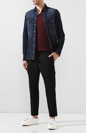 Мужская джинсовая рубашка DOLCE & GABBANA синего цвета, арт. G5EX7D/G8BY4 | Фото 2