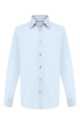Мужская хлопковая сорочка GUCCI голубого цвета, арт. 535172/21131 | Фото 1