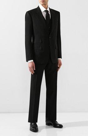 Мужской шерстяной костюм-тройка TOM FORD черного цвета, арт. 722R12/31AL43 | Фото 1