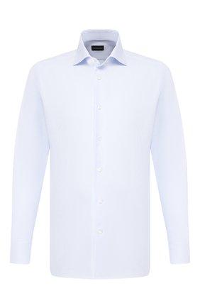 Мужская хлопковая сорочка ERMENEGILDO ZEGNA голубого цвета, арт. 701262/9MS0BA | Фото 1