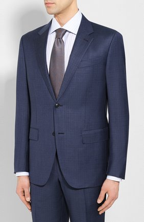 Мужской шерстяной костюм ERMENEGILDO ZEGNA синего цвета, арт. 722031/25M22Y | Фото 2