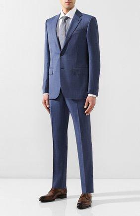 Мужской шерстяной костюм ERMENEGILDO ZEGNA синего цвета, арт. 722034/221225 | Фото 1