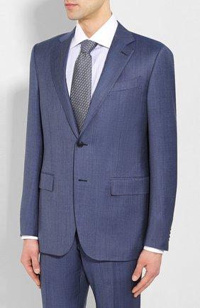 Мужской шерстяной костюм ERMENEGILDO ZEGNA синего цвета, арт. 722034/221225 | Фото 2