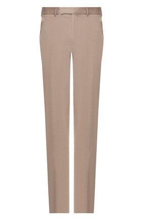 Мужские брюки из смеси хлопка и кашемира ERMENEGILDO ZEGNA темно-бежевого цвета, арт. 766F09/77TB12 | Фото 1