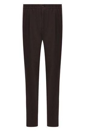 Мужской брюки из смеси шерсти и вискозы GIORGIO ARMANI коричневого цвета, арт. 9SGPP05M/T003N | Фото 1