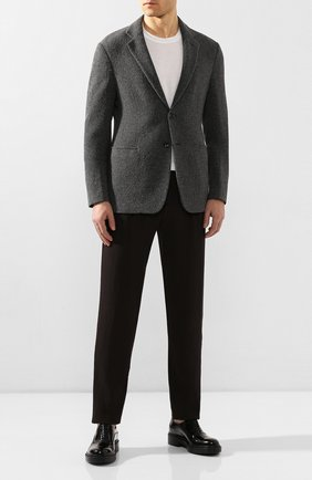 Мужской брюки из смеси шерсти и вискозы GIORGIO ARMANI коричневого цвета, арт. 9SGPP05M/T003N | Фото 2