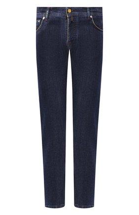 Мужские джинсы KITON темно-синего цвета, арт. UPNJS/J07S31 | Фото 1