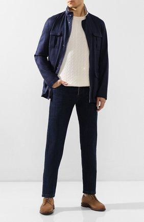 Мужские джинсы KITON темно-синего цвета, арт. UPNJS/J07S31 | Фото 2