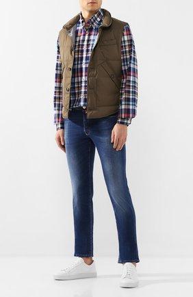 Мужская хлопковая рубашка PAUL&SHARK разноцветного цвета, арт. P20P3212 | Фото 2