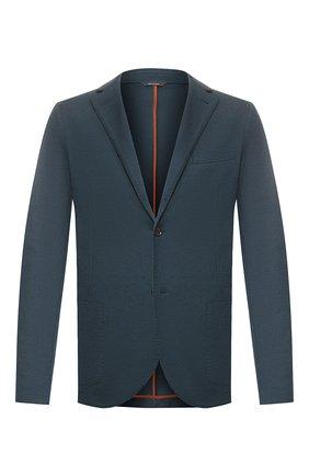 Мужской кашемировый пиджак LORO PIANA синего цвета, арт. FAL0732 | Фото 1