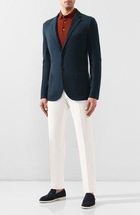 Мужской кашемировый пиджак LORO PIANA синего цвета, арт. FAL0732 | Фото 2