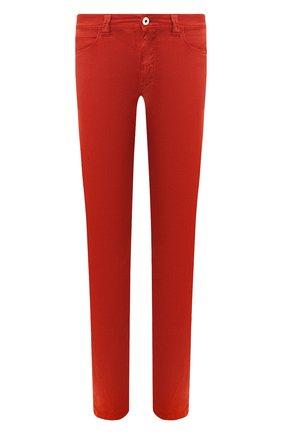 Мужские брюки изо льна и хлопка LORO PIANA красного цвета, арт. FAI1646 | Фото 1