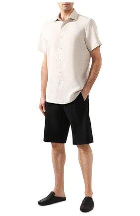 Мужская льняная рубашка ERMENEGILDO ZEGNA светло-бежевого цвета, арт. UUX38/SCF5 | Фото 2