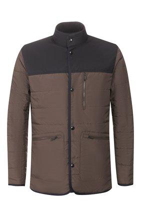 Мужская двусторонняя куртка Z ZEGNA хаки цвета, арт. VU013/ZZ106 | Фото 1 (Материал внешний: Синтетический материал; Материал подклада: Синтетический материал; Рукава: Длинные; Длина (верхняя одежда): Короткие; Мужское Кросс-КТ: Куртка-верхняя одежда, Верхняя одежда, утепленные куртки; Кросс-КТ: Куртка)