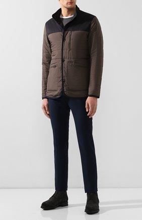 Мужская двусторонняя куртка Z ZEGNA хаки цвета, арт. VU013/ZZ106 | Фото 2 (Материал внешний: Синтетический материал; Материал подклада: Синтетический материал; Рукава: Длинные; Длина (верхняя одежда): Короткие; Мужское Кросс-КТ: Куртка-верхняя одежда, Верхняя одежда, утепленные куртки; Кросс-КТ: Куртка)