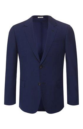 Мужской шерстяной пиджак ALEXANDER MCQUEEN синего цвета, арт. 595146/Q0U12 | Фото 1