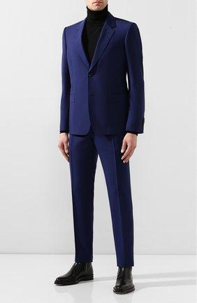 Мужской шерстяной пиджак ALEXANDER MCQUEEN синего цвета, арт. 595146/Q0U12 | Фото 2