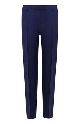 Мужской шерстяные брюки ALEXANDER MCQUEEN синего цвета, арт. 598972/Q0U12 | Фото 1