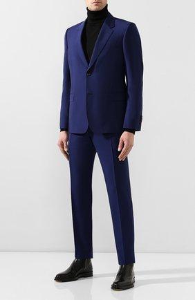 Мужской шерстяные брюки ALEXANDER MCQUEEN синего цвета, арт. 598972/Q0U12 | Фото 2