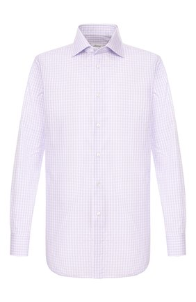 Мужская хлопковая сорочка BRIONI сиреневого цвета, арт. RCL81D/P90A1 | Фото 1