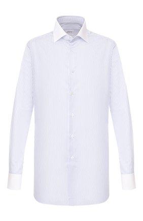 Мужская хлопковая сорочка BRIONI синего цвета, арт. RCL821/P905Z | Фото 1