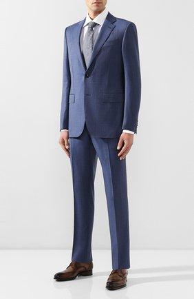 Мужская хлопковая сорочка BRIONI синего цвета, арт. RCL821/P905Z   Фото 2